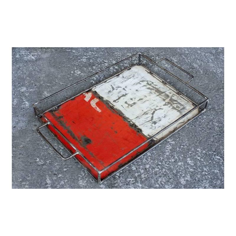 Plateau - couleur rouge et blanc