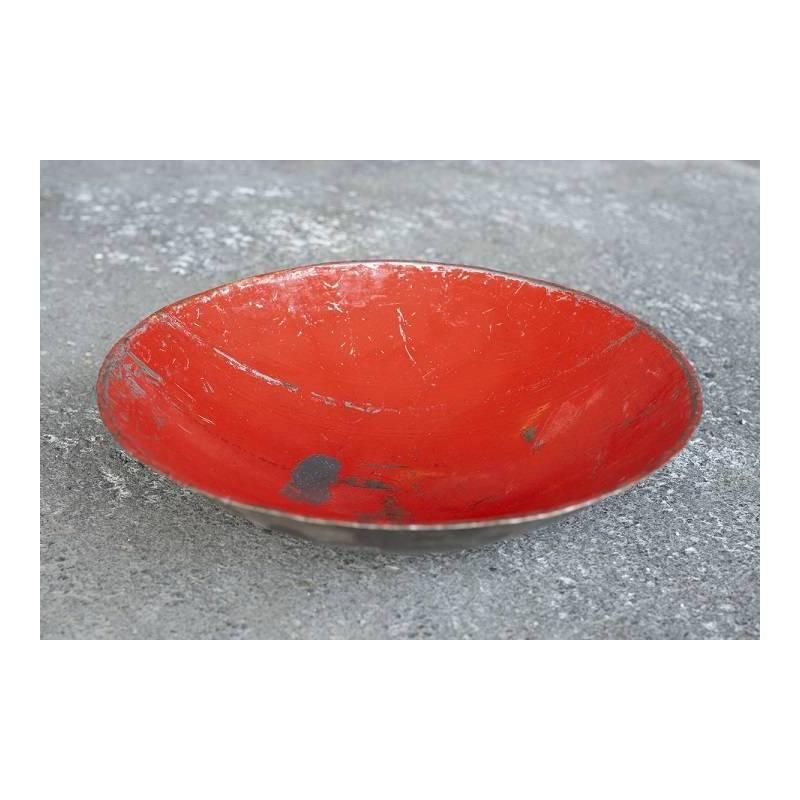 Plats en barils de pétrole recyclés - couleur rouge