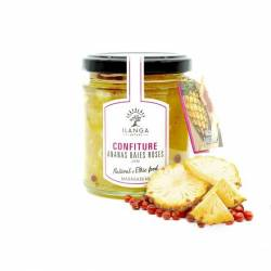 Confiture Ananas Baies Roses