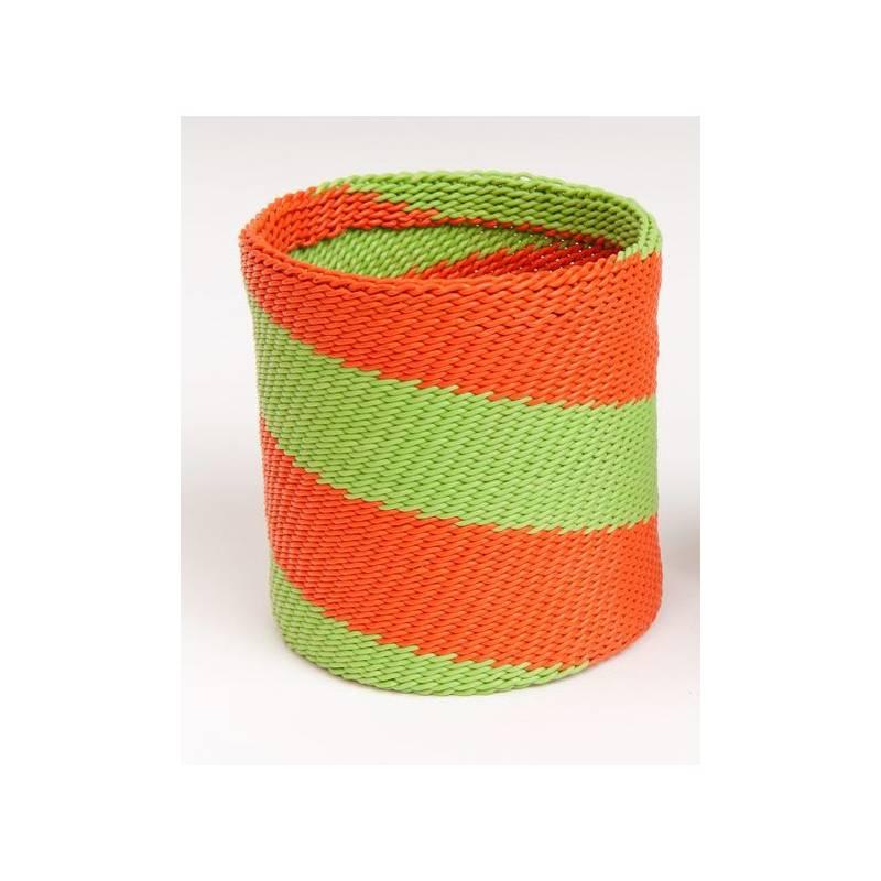 Bracelet double en fil de téléphone Orange Lime