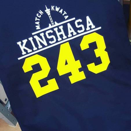 T-shirt KINSHASA 243 - 5 modèles