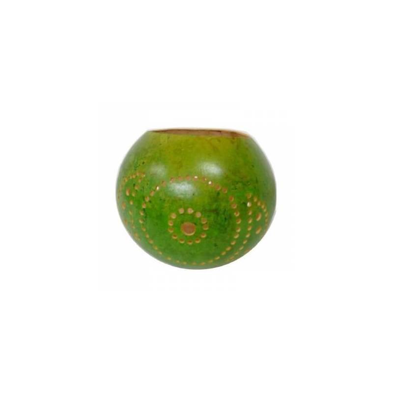 Photophores en calebasse - couleur vert
